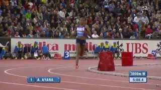 ayana defeats dibaba in a re-match during the diamond league Zurich, September 3 2015