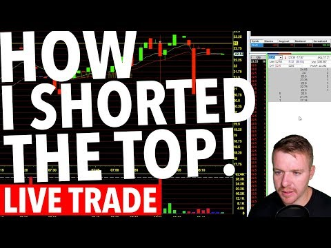 LIVE DAY TRADING! HOW I SHORTED THE TOP OF $CLVS