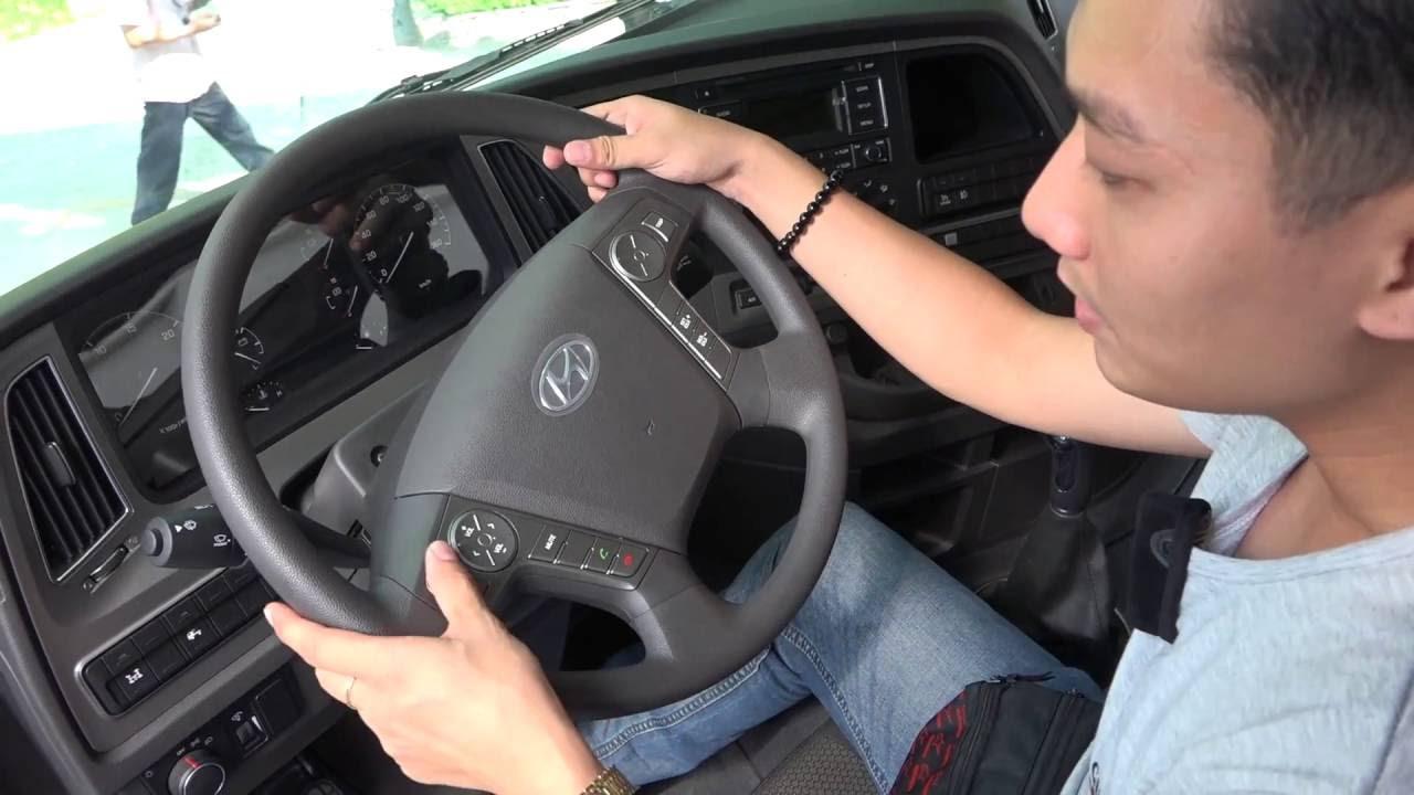 VMS 2016 | Xem thử xe ben Hyundai Xcient 20 tấn, nội thất tiện nghi như xe con