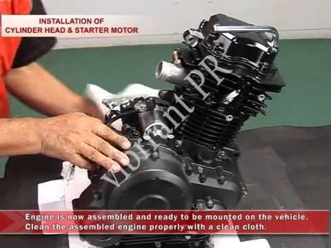 How to Overhaul Yamaha SZ-R Engine : Cylinder Head & Starter Motor Yamaha Sz Wiring Diagram on