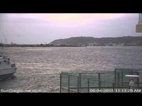 Carl Vinson Strike Group Return to San Diego Recorded June 4, 2015 [Harbor Island East Camera]