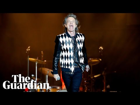 Mick Jagger struts on stage in first concert after heart surgery