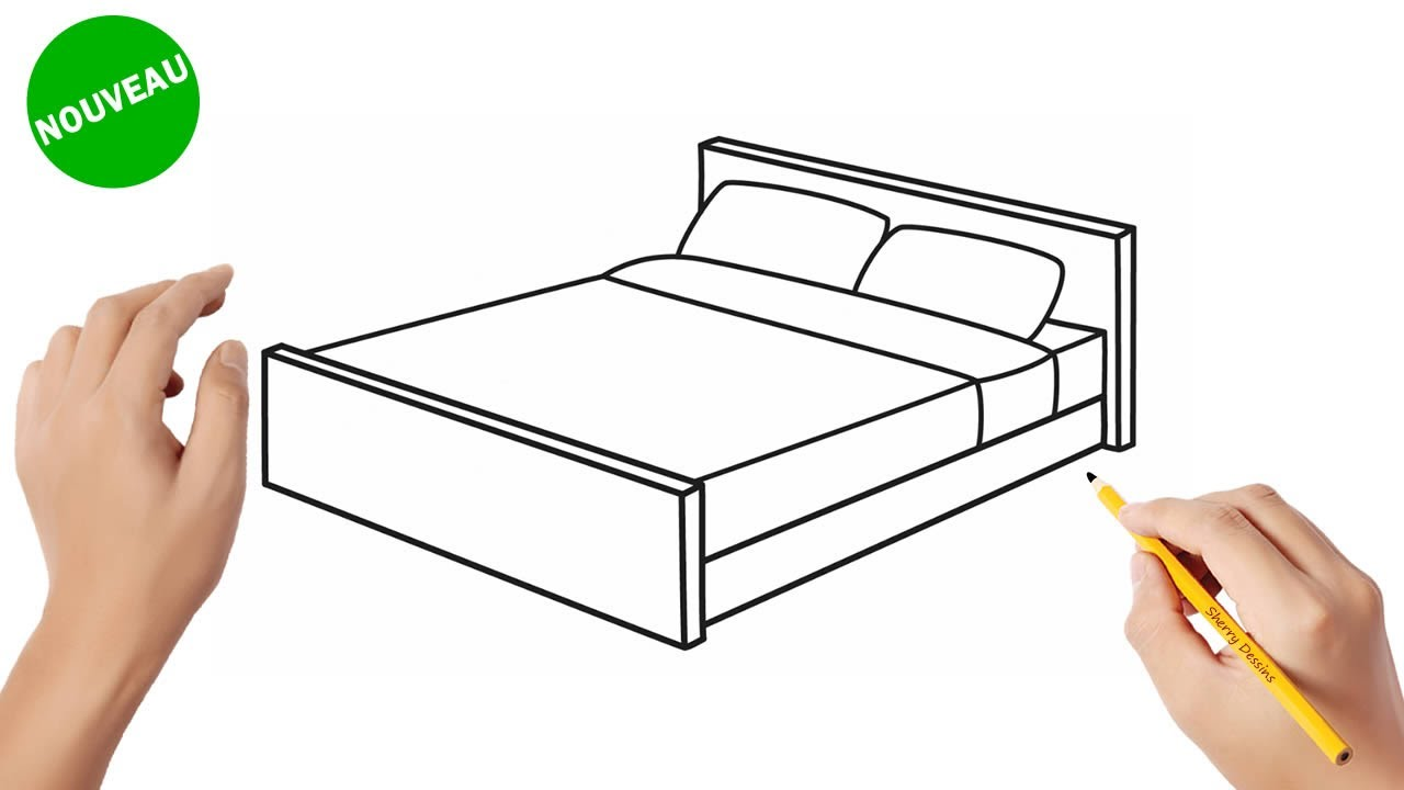 Comment Dessiner Un Lit How To Draw A Bed Youtube