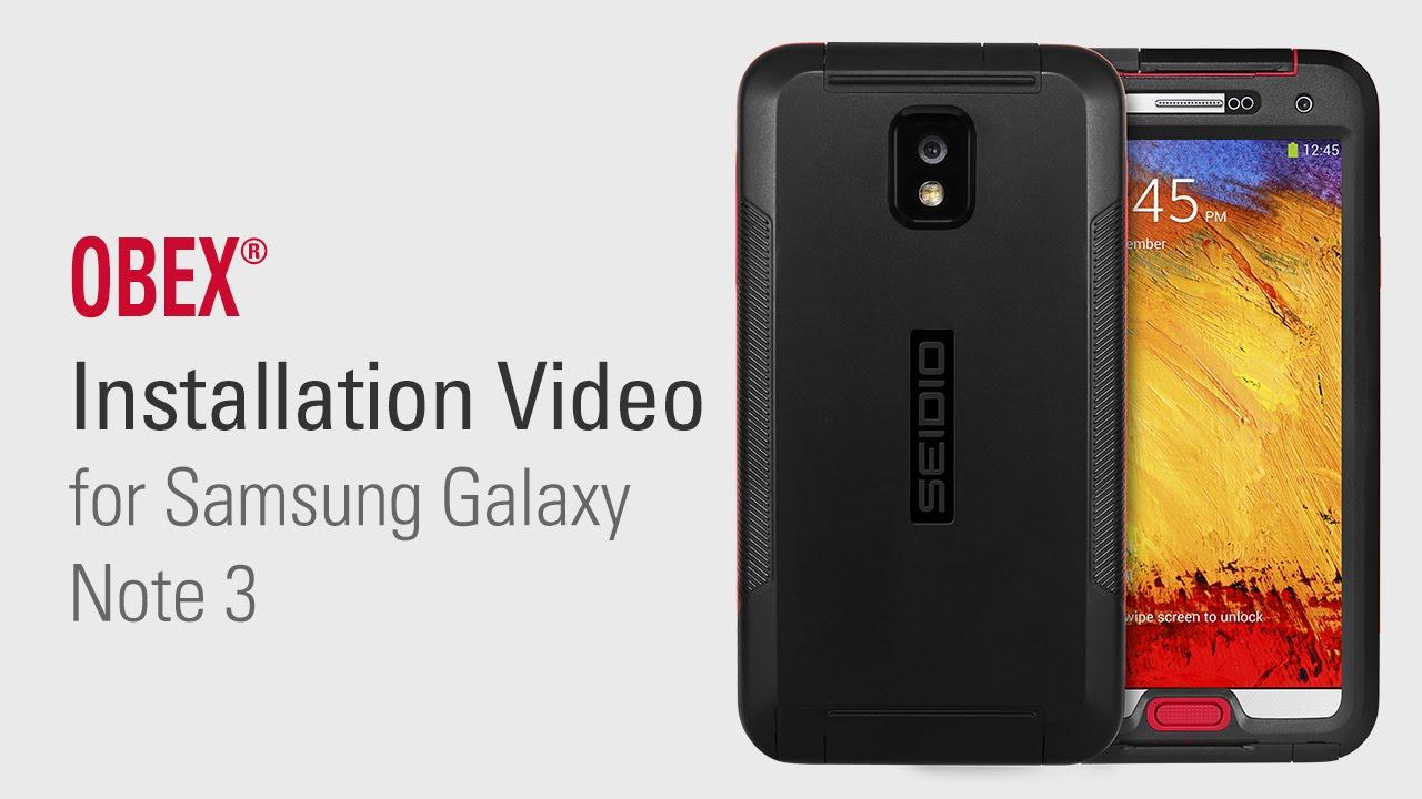best service bedce 26b3a SEIDIO OBEX® Waterproof Case for Samsung Galaxy Note 3 Installation