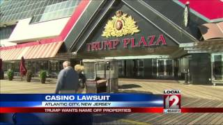 Trump sues to get name off casinos