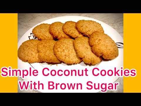Simple Coconut Cookies With Brown Sugar