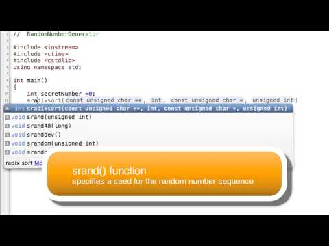 Create a Random Number in C++