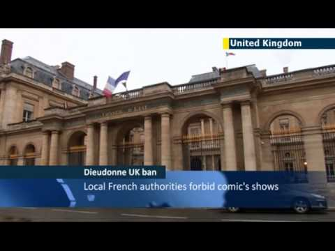 Anti-Semitic French comic Dieudonne banned from UK: comedian invented Nazi-style quenelle salute