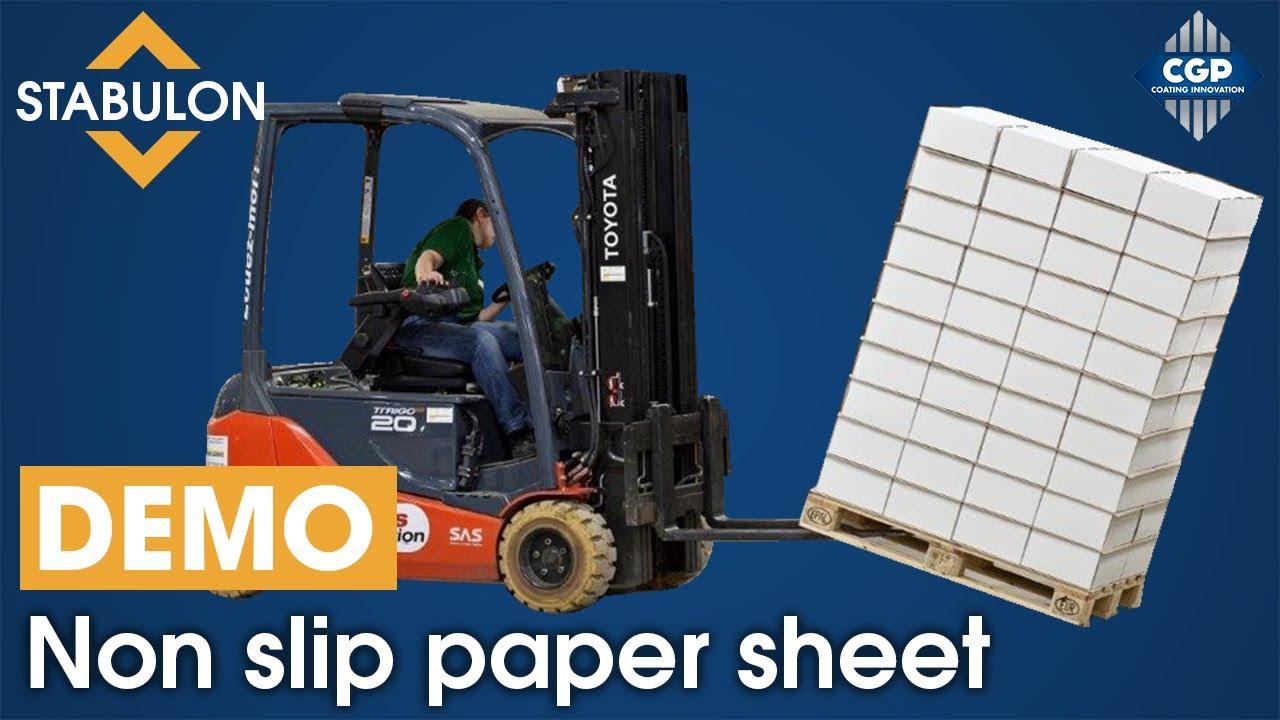 non skid paper sheet stabulon