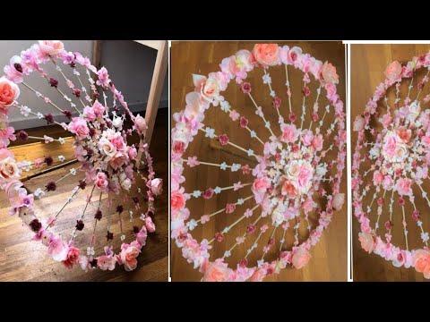 DIY | Wedding Ceremony Decoration Ideas | Floral wedding Umbrella | Easy to make bridal Umbrella