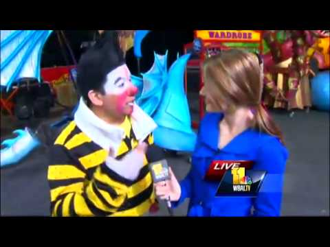 Ava gets pie in the face at circus!