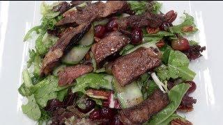 Lamb With Pecan & Grape Salad - Nicko's Kitchen