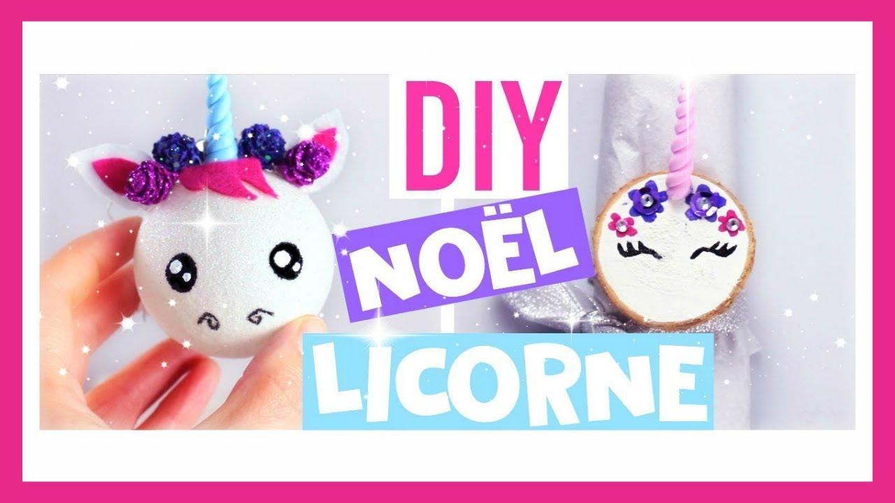 DIY Nol KAWAII  Deco Licorne Facile  2 me Partie franais  YouTube
