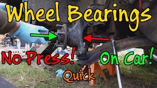 Subaru Wheel Bearing Replacement Without A Press, How To Guide, Quick Version
