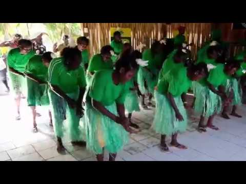 Singing and dancing to Bougainville bamboo band in Papua New Guinea