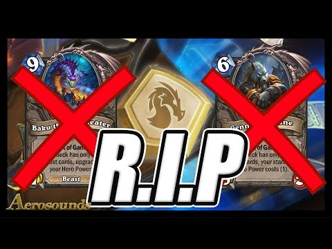 Bye Bye Genn & Baku! - Huge Hearthstone News- Year Of The Dragon- 9 Cards Will Move To Hall Of Fame!