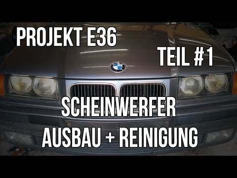 projekt e36 teil 1 scheinwerfer ausbau reinigung. Black Bedroom Furniture Sets. Home Design Ideas