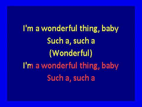 kid creole - i'm a wonderful thing, baby (karaoke)