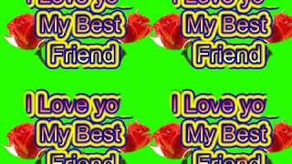 Happy Friendship Day Green Screen Effects - Happy Friendship Day speciel 3D Animated Video No 53