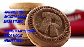 Tutorial fimo Biscotto Ringo senza stampo-Polymerclay ringo biscuit without mold