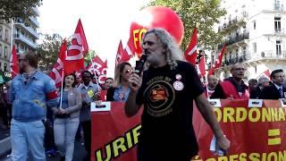 La CGT-FO à la manifestation du 21 septembre 2017, Paris.