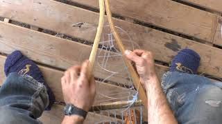 Snowshoe Weaving Part 11: Pointed toes or heels