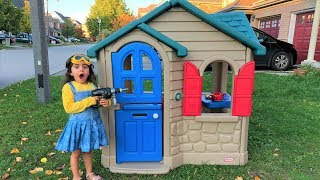 Sally build Playhouses for children /Heads and Shoulders!! kids song