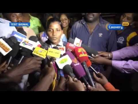 Big welcome for Madurai kabbadi player | Cauvery News