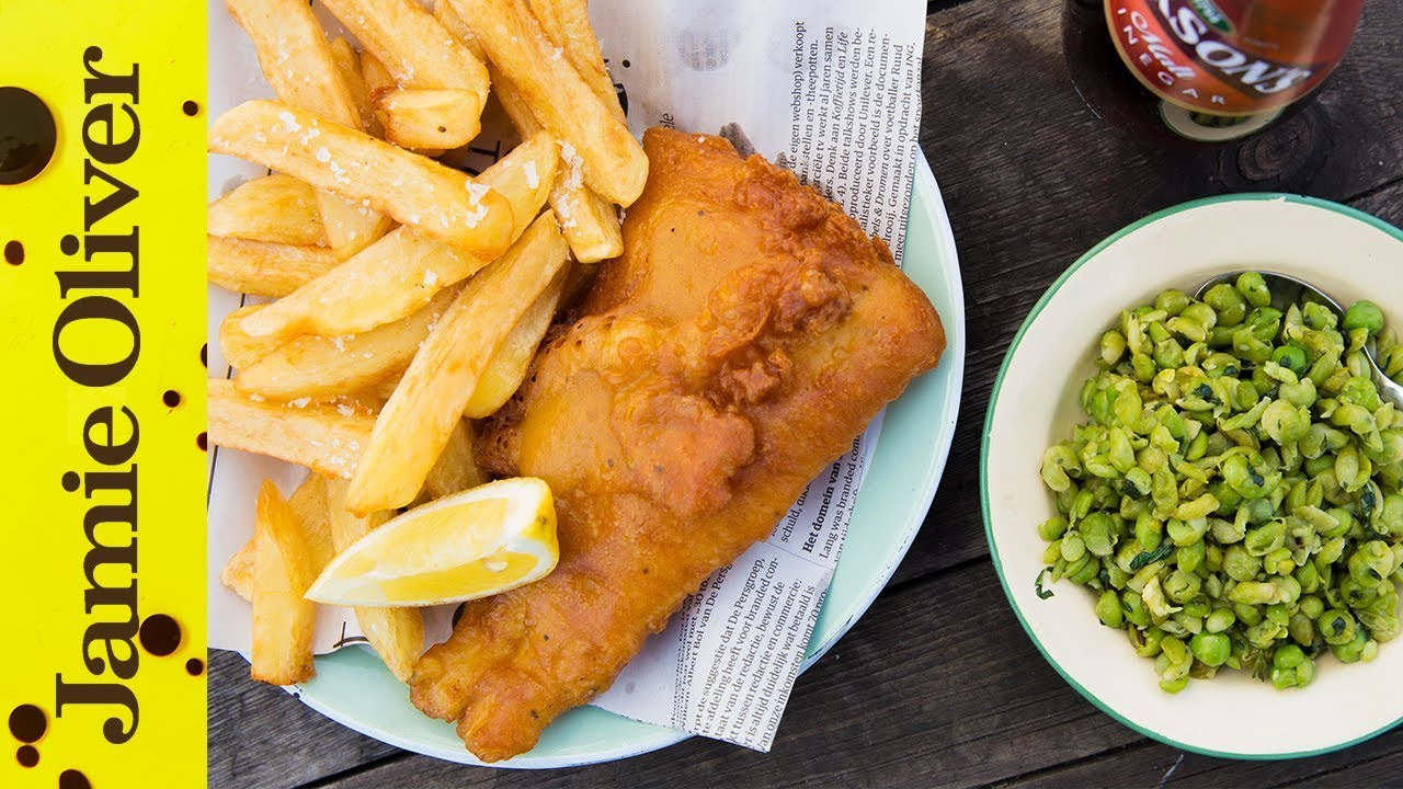 Homemade fish and chips bart van olphen youtube for How to make fish food