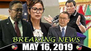 BREAKING LATEST NEWS TONIGHT MAY 16 2019 PRES DUTERTE | JIMINEZ | CBCP | ELECTION RESULTS UPDATE