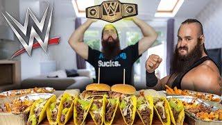 BRAUN STROWMAN'S WWE CHEAT MEAL CHALLENGE...DOUBLED | BeardMeatsFood