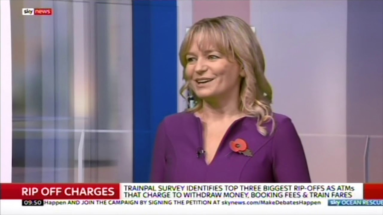 Jasmine Birtles Talks About Top 3 Rip-offs from TrainPal Survey, Sky News  11/3/2018