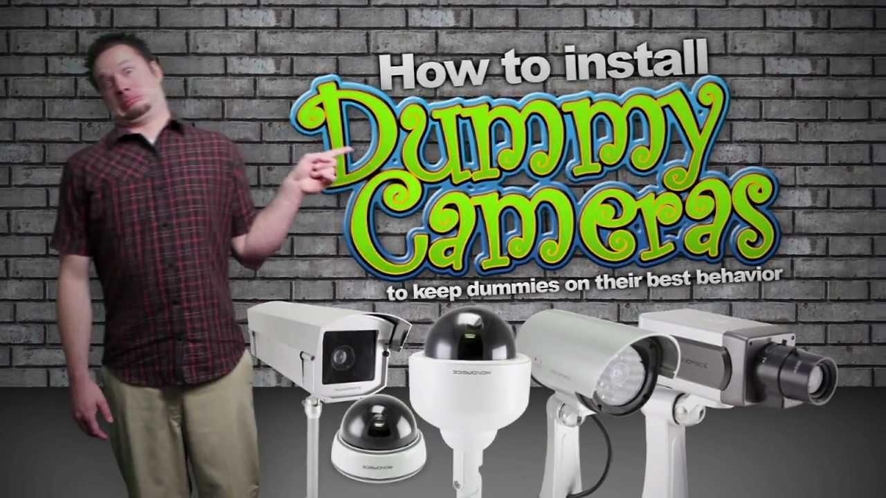 How to install Dummy Security Cameras to keep dummies on their best behavior - YouTube