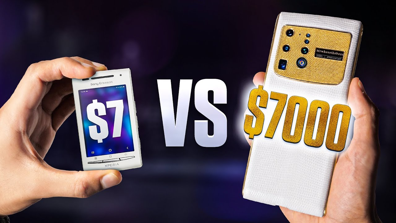$7 Smartphone vs $7,000 Smartphone.