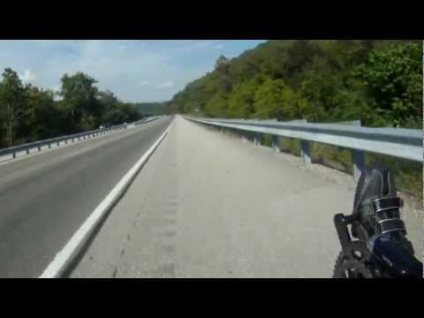 Crossing the Ohio river valley by bicycle