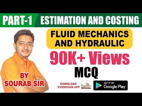 FLUID MECHANICS  & HYDRAULICS ( MCQ  PART-1)