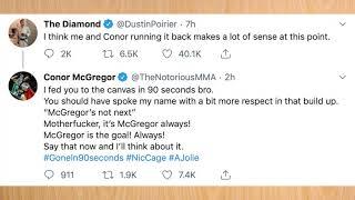Conor McGregor vs Dustin Poirier, Twitter Beef