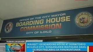 BP: Mahigit 100 boarding house at dormitoryo sa Iloilo city, nanganganib maipasara