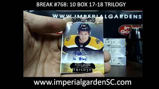 CASE BREAK #768 MAIN: 10 BOX CASE BREAK 17-18 TRILOGY  HOCKEY NHL