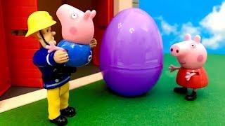 Strażak Sam i Świnka Peppa ☺ Prezent Jajko Niespodzianka ☺ Bajka dla dzieci PO POLSKU