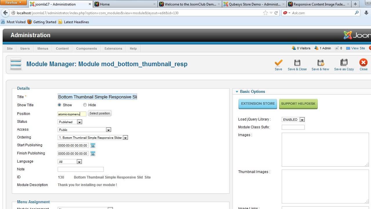 JoomClub Bottom Thumbnail Simple Responsive Slider v1 0 0