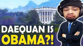 DAEQUAN IS...OBAMA?! | 360 OOMPA LOOMPA | LIGMA? | HIGH KILL FUNNY GAME-(Fortnite Battle Royale)
