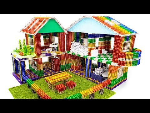 DIY - How To Build Amazing Dollhouse With Magnetic Balls (Satisfaction) - Magnet Balls