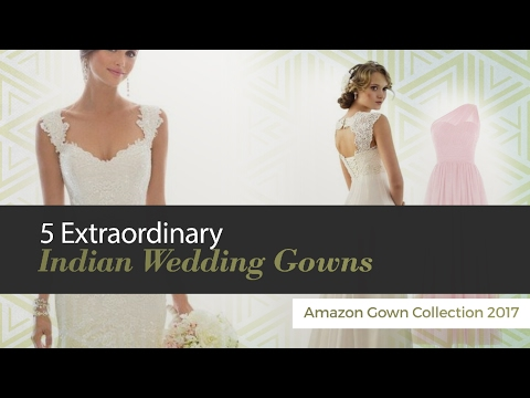 7bd1e87634 5 Extraordinary Indian Wedding Gowns Amazon Gown Collection 2017 - YouTube