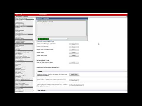 How To reload USER list and GAL on a Application server