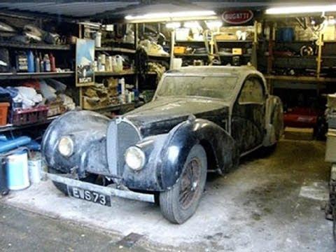 1937 Bugatti Atalante 57S discovered in lock up