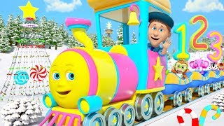 Christmas Numbers Train | Cartoons for Children | Xmas Songs for Kids by Little Treehouse