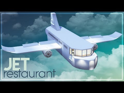 JET RESTAURANT | A first class experience + TOUR + NO CC | The Sims 4 Speed Build