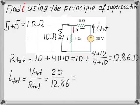 Superposition Theorem with example