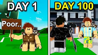 I Spent 100 Days On Roblox Brookhaven..